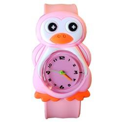 Fako® - Kinderhorloge - Slap On Mini - Pinguïn - Roze