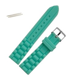 Fako® - Horlogebandje - Siliconen - 20mm - Mintgroen
