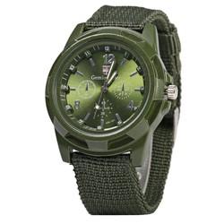 Fako® - Horloge - Army - Groen