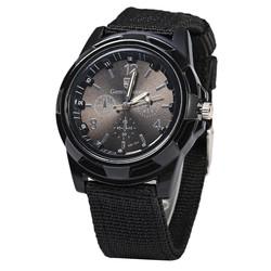 Fako® - Horloge - Army - Zwart