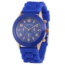 Fako® - Horloge - Geneva - Siliconen Candy - Donkerblauw