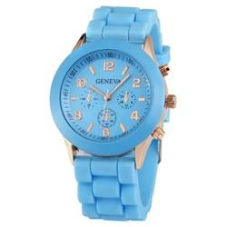 Fako® - Horloge - Geneva - Siliconen Candy - Lichtblauw