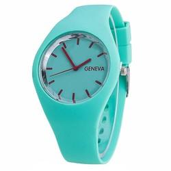 Fako® - Horloge - Geneva - Siliconen Ultra - Mintgroen