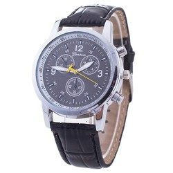 Fako® - Horloge - Geneva Luxury - Zwart