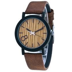 Fako® - Horloge - Houtlook - Donkerbruin