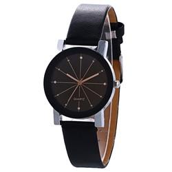 Fako® - Horloge - Black Quartz - Ø 31mm - Roségoud & Zwart