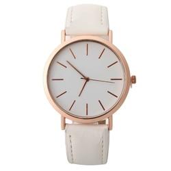 Fako® - Horloge - Rosé Goudkleurig - Ø 41mm - Wit
