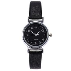 Fako® - Horloge - Ø 26mm - Zilverkleurig - Zwart