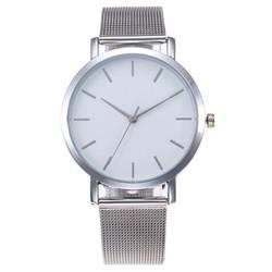 Fako® - Horloge - Mesh - Vintage - Staal - Ø 40mm - Zilverkleurig