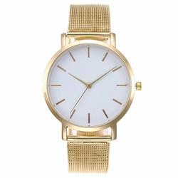 Fako® - Horloge - Mesh - Vintage - Staal - Ø 40mm - Goudkleurig