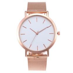 Fako® - Horloge - Mesh - Vintage - Staal - Ø 40mm - Rosé Goudkleurig