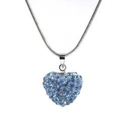Fako Bijoux® - Ketting - Disco Dots - Hart - Blauw