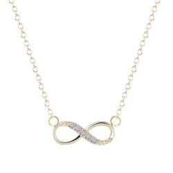 Fako Bijoux® - Ketting - Infinity - Mini - Goudkleurig
