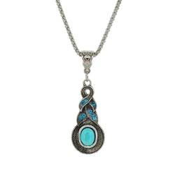 Fako Bijoux® - Ketting - Tibetaanse Stijl - Zilverkleurig - Pendule