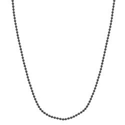 Fako Bijoux® - Bolletjes Ketting - Ball Chain - 1.5mm - 70cm - Donkergrijs