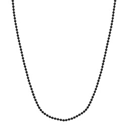 Fako Bijoux® - Ketting - Bolletjes - 1.5mm - 70cm - Zwart