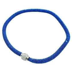 Fako Bijoux® - Ketting - Sterrenstof - Disco Dots - Donkerblauw