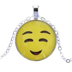 Fako Bijoux® - Ketting - Cabochon - Emoji - Smile