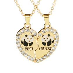 Fako Bijoux® - Vriendschapsketting - Best Friends - Panda - Goudkleurig