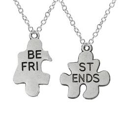 Fako Bijoux® - Vriendschapsketting - Best Friends - Puzzelstukjes