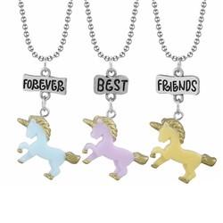 Fako Bijoux® - Vriendschapsketting - Eenhoorn - Unicorn - Best Friends Forever