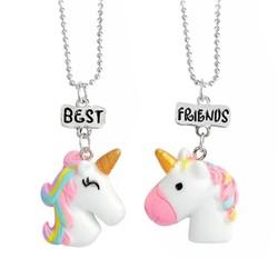 Fako Bijoux® - Vriendschapsketting - Unicorn/Eenhoorn - Best Friends - Regenboog