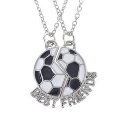 Fako Bijoux® - Vriendschapsketting - Voetbal - Best Friends