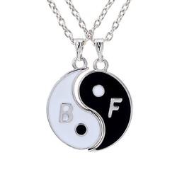 Fako Bijoux® - Vriendschapsketting - Yin Yang - Best Friends