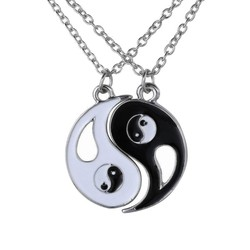 Fako Bijoux® - Vriendschapsketting - Yin Yang - Open