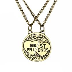 Fako Bijoux® - Vriendschapsketting - Best Friends Coin - Bronskleurig