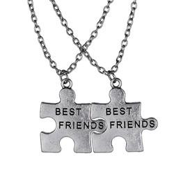 Fako Bijoux® - Vriendschapsketting - Best Friends - Puzzelstukjes Groot