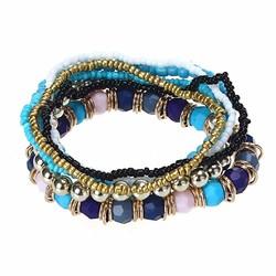 Fako Bijoux® - Armband - Beachbumb - Blauw