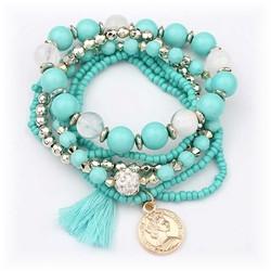 Fako Bijoux® - Armband - Summer - Turquoise