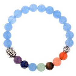 Fako Bijoux® - Buddha Armband - Chakra Reiki - Bedel - Blauw
