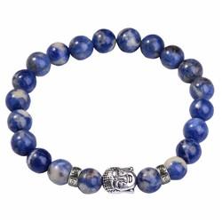 Fako Bijoux® - Buddha Armband - Deluxe - Blauw