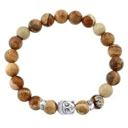 Fako Bijoux® - Buddha Armband - Deluxe - Natural