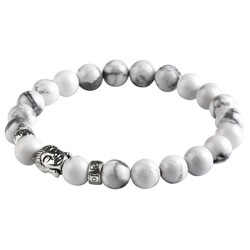 Fako Bijoux® - Buddha Armband - Deluxe - Wit