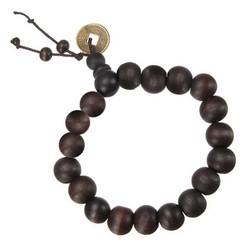 Fako Bijoux® - Buddha Armband - Mala - 9-10mm - Bruin