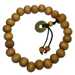 Fako Bijoux® - Buddha Armband - Mala - 9-10mm - Lichtbruin