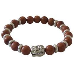 Fako Bijoux® - Buddha Armband - Ring - Bruin Glitter
