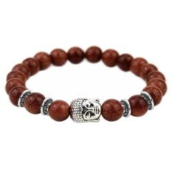 Fako Bijoux® - Buddha Armband - Ring Quatro - Bruin Glitter