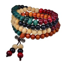 Fako Bijoux® - Buddha Armband - Sandelhout - 8mm - Multicolor