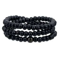 Fako Bijoux® - Buddha Armband - Sandelhout - Classic - 6mm - Zwart
