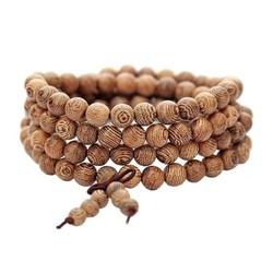 Fako Bijoux® - Buddha Armband - Sandelhout - Natural - 6mm