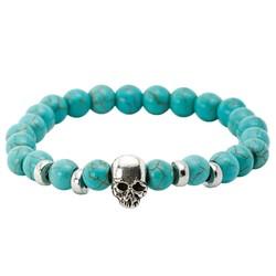 Fako Bijoux® - Buddha Armband - Schedel Quatro - Turquoise
