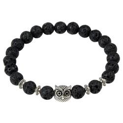 Fako Bijoux® - Buddha Armband - Uiltje Ring - Lavasteen