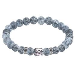Fako Bijoux® - Buddha Armband - Deluxe - Grijs