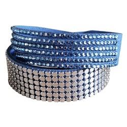 Fako Bijoux® - Wikkelarmband - Metal Bling - Blauw