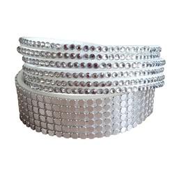 Fako Bijoux® - Wikkelarmband - Metal Bling - Wit
