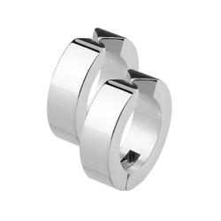 Fako Bijoux® - Oorbellen - Oorringen - Stainless Steel - Fake - Zilverkleurig